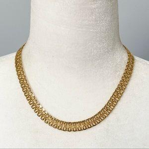 Vintage gold-filled GHR collar necklace
